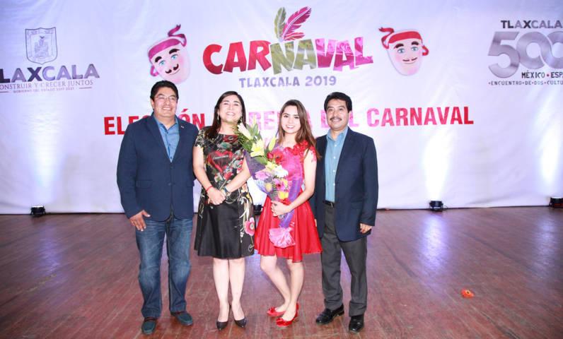 """Es Sinaí Flores Cuatecontzi reina del """"Carnaval 500 Años Tlaxcala 2019"""