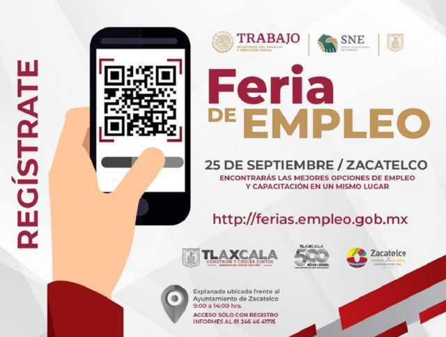 Organiza Sepuede Feria de Empleo en Zacatelco; 19 empresas ofertarán 388 vacantes