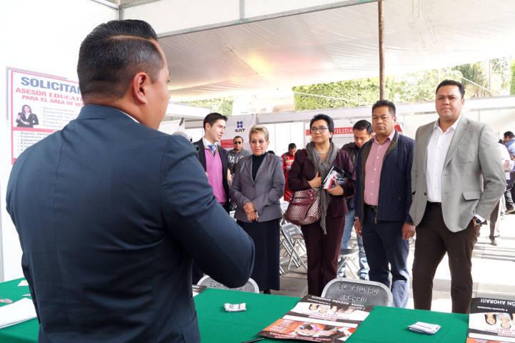 Ofertó Sepuede 317 vacantes en Feria de Empleo San Pablo del Monte