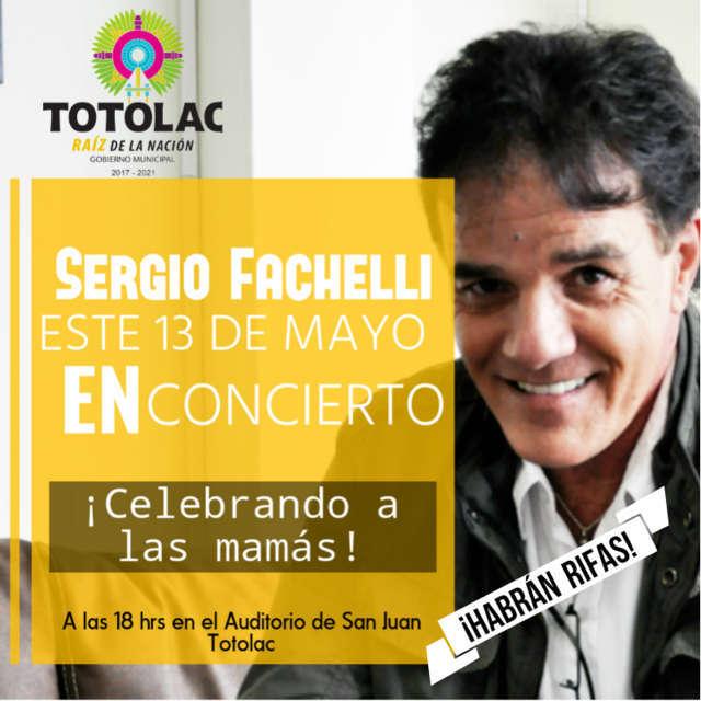 Celebrando el Día de la Madre, Sergio Fachelli dará concierto en Totolac