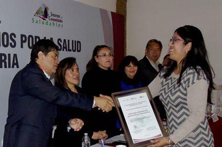 Certifica Secretaría de Salud a 19 comunidades como saludables