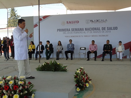 Arranca en Tlaxcala Primera Semana Nacional de Salud 2019