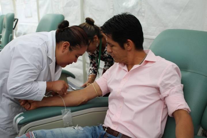 Participa SESA en conmemoración del día mundial del donante de sangre