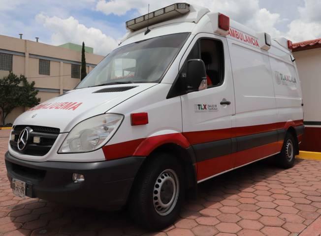 Atiende SESA a lesionados de accidente vial en Tlaxco