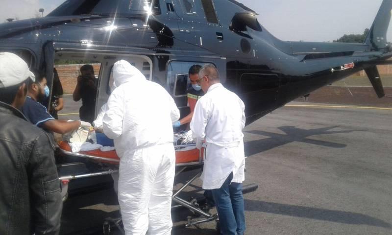 Trasladan a menor intoxicado a Hospital de la Ciudad de México