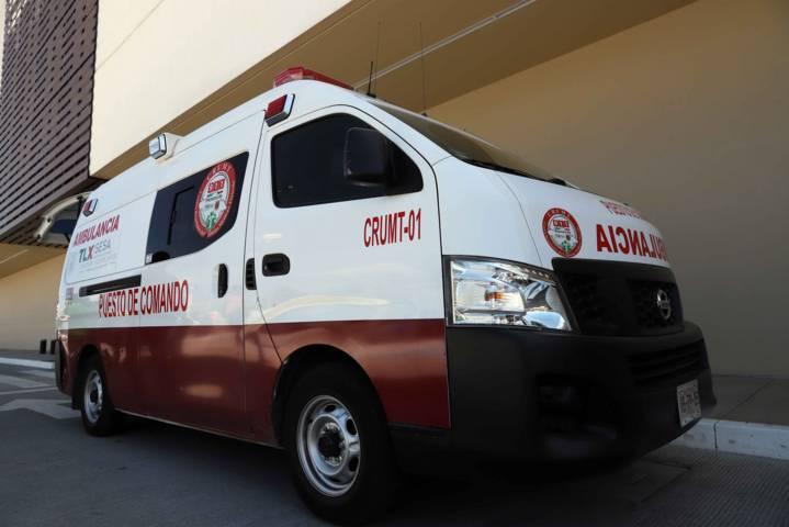 Atendió Crumt a lesionados de accidente automovilístico en Panotla