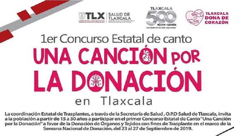 Convoca SESA a concurso de canto para fomentar donación de órganos