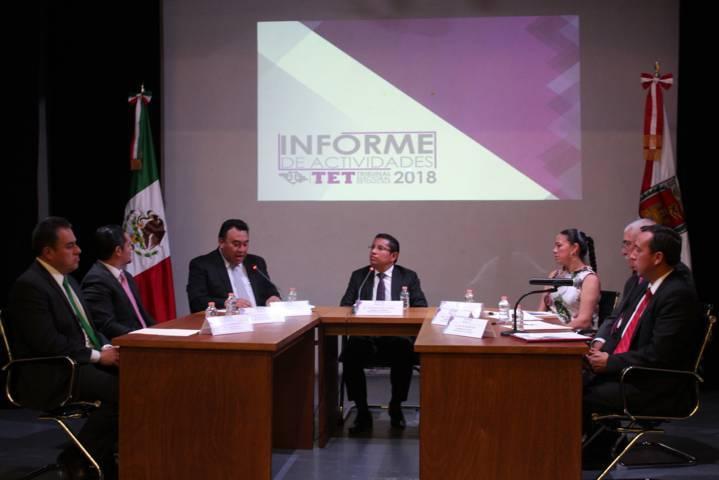 Rinde presidente del TET primer informe de actividades