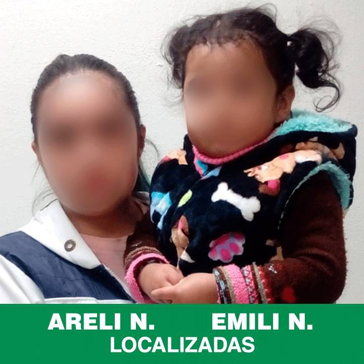 Localiza PGJE a mamá e hija reportadas como extraviadas