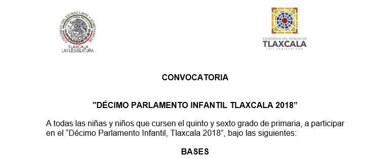 Convocatoria del Parlamento Infantil 2017