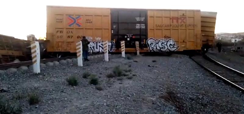 Se descarrila el tren en Apizaco, no hay lesionados