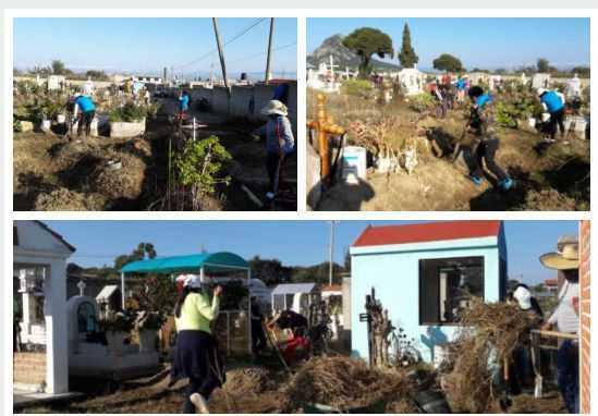 Ayuntamiento de San José Teacalco concluye la limpieza del panteón