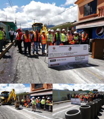 Construyen casi 500 metros de drenaje en San José Teacalco