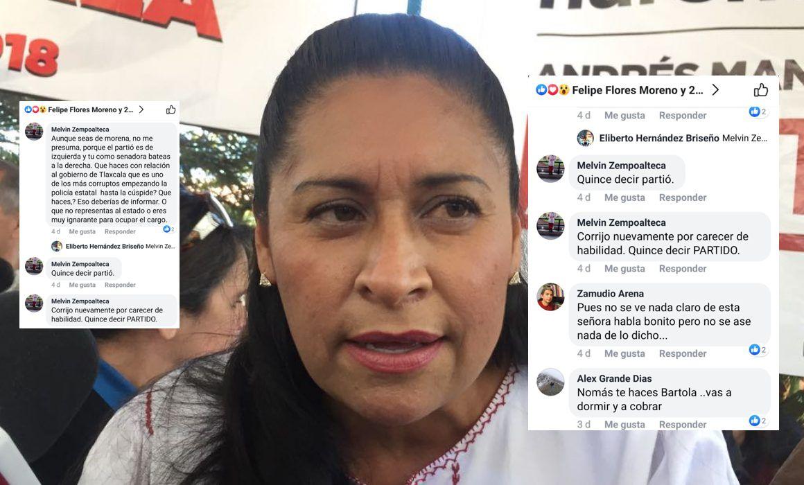 Senadora paga en Facebook para que la tundan