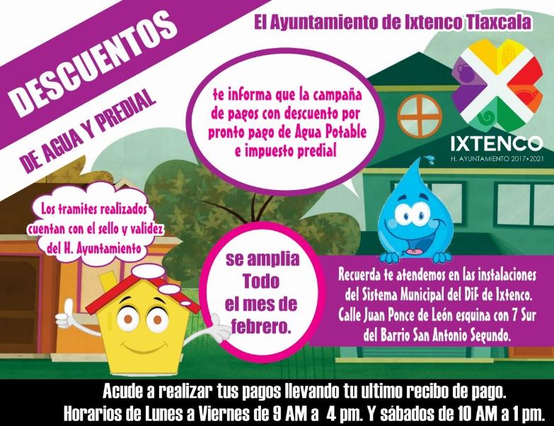 Amplían Plazo a Programa de Descuento en Impuestos Municipales en Ixtenco