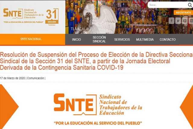 Por Coronavirus suspenden elecciones en el SNTE