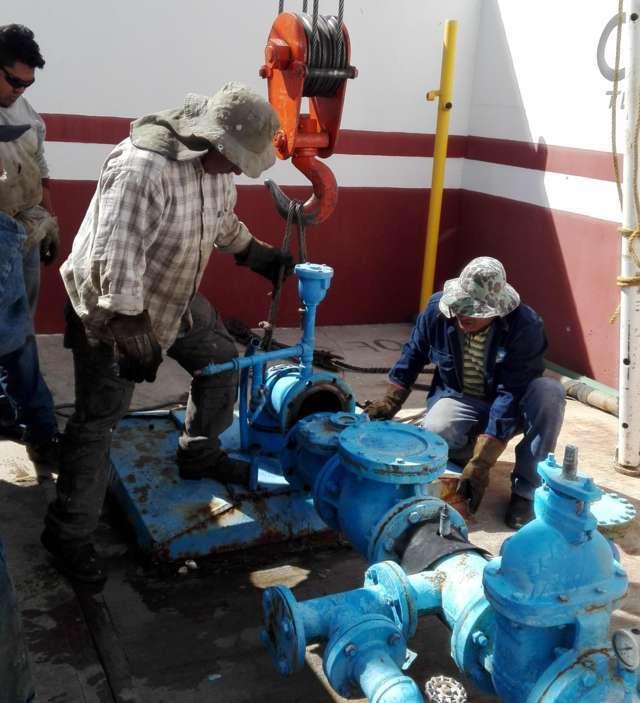 Realiza CAPAT mantenimiento al pozo y a la bomba de agua que suministra la cabecera municipal de Tlaxco