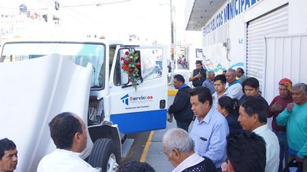 Rehabilitan pipa de agua de servicios municipales de SPM