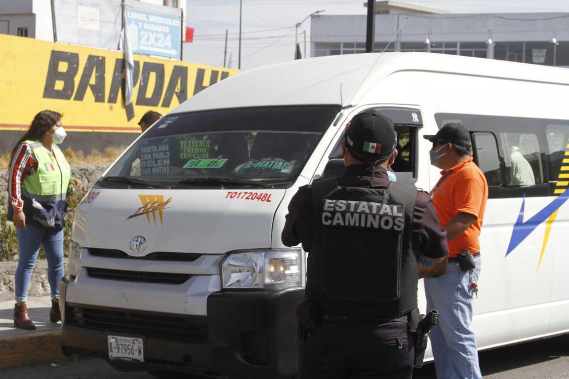 Realizan operativo para evitar contagios en Chiautempan