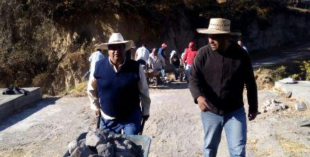 Llegan las faenas comunitarias a Guadalupe Tlachco