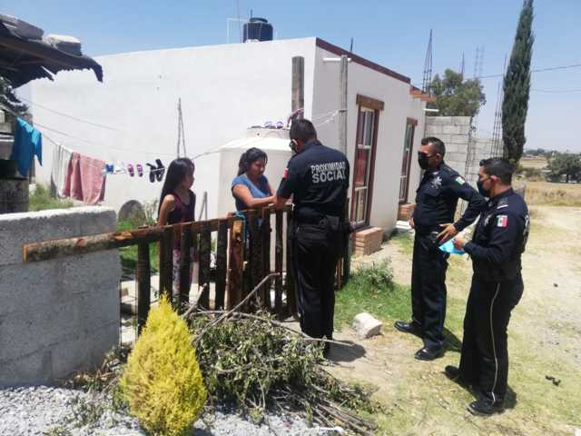 Suman esfuerzos policía capitalina y Guardia Nacional para prevenir Covid-19
