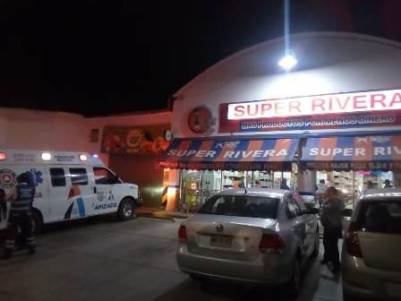 Ladrones intentan asaltar sucursal Super Rivera en Apizaco