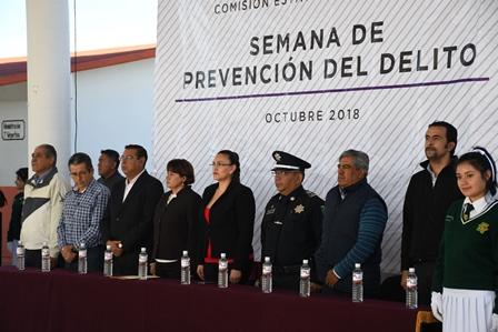 Arranca en Tlaxco semana de prevención del delito