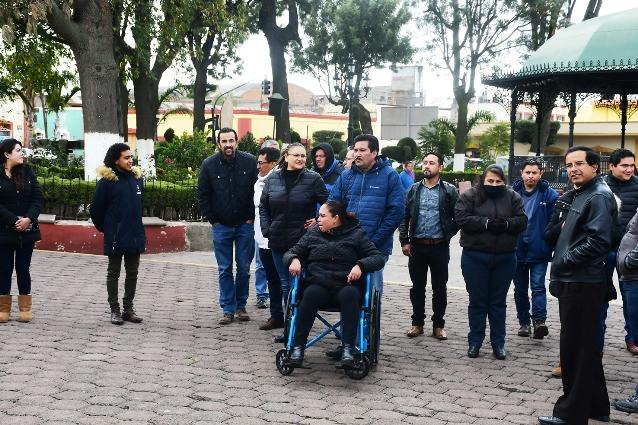 Participan en Tlaxco funcionarios y ciudadanos en macrosimulacro