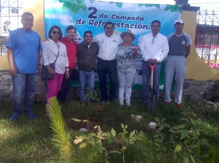 """Alcalde pone en marcha campaña """"Respira Totolac y Adopta un Árbol"""""""