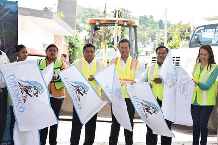 Inician por Fortalece nuevas obras en el municipio de Tepeyanco