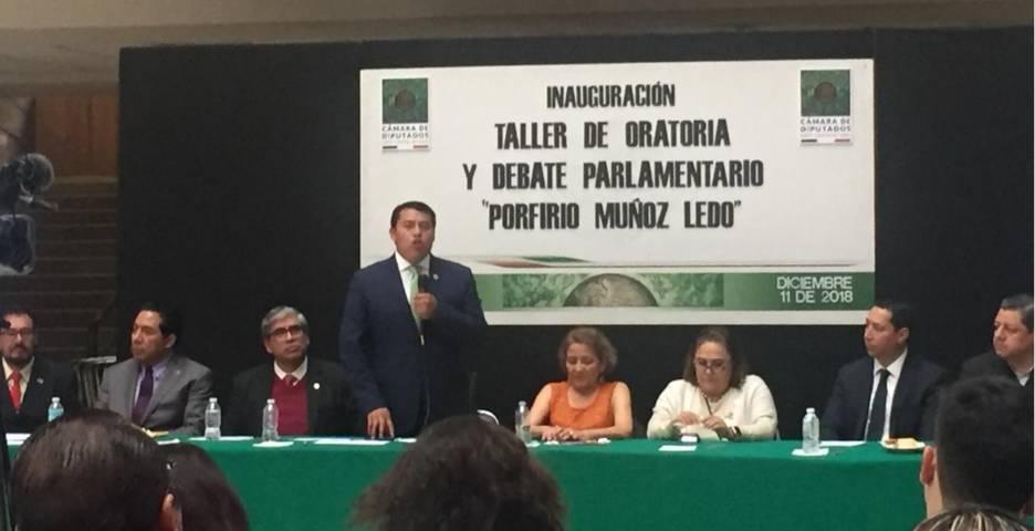 """Inaugura Rubén Terán en San Lázaro Taller Oratoria y Debate Parlamentario """"Porfirio Muñoz Ledo"""""""