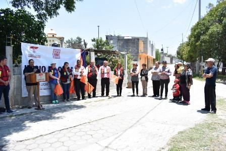 Vázquez Morales pone en marcha obra en la calle Zaragoza