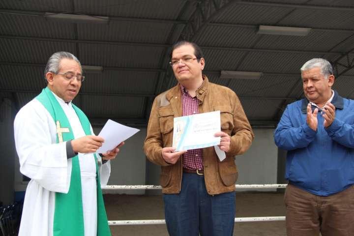 Presidente Municipal de Huamantla entrega techumbre de la Basílica de la Virgen de la Caridad