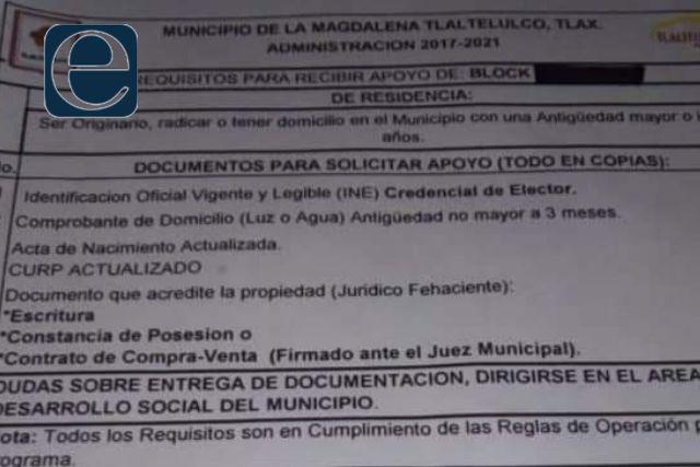 Conaso denuncia compra de votos en Tlaltelulco; votos por materiales