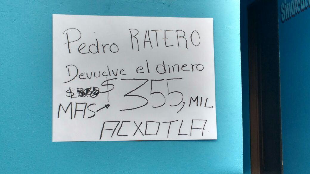 Ignora Pedro Tecuapacho protesta de habitantes de Teolocholco