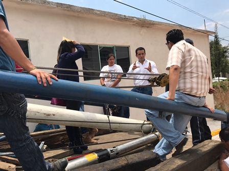 Reparan falla en pozo de agua en municipio de Tepeyanco
