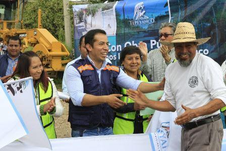 Arranca otra obra en Tepeyanco; se benefician colonos de la Aurora