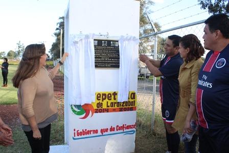 Inaugura alcalde en San Mateo Ayecac unidad deportiva