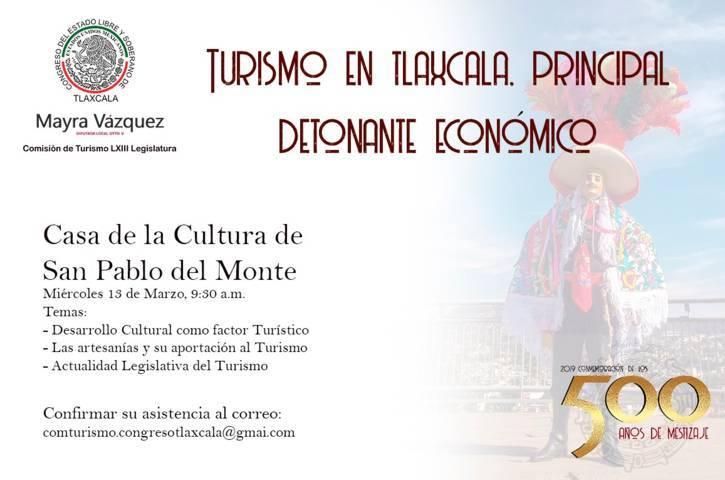 Se realizará el Tercer  Foro Turístico, en San Pablo del Monte