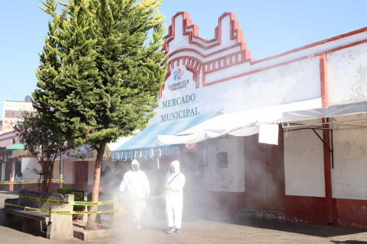 Realizan en Huamantla primera etapa de termonebulización en espacios públicos