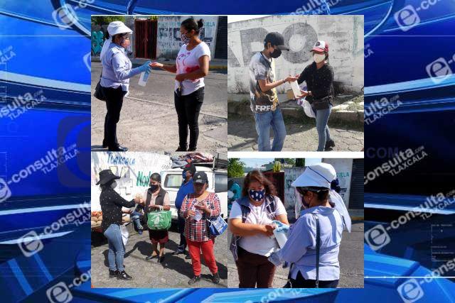 Con medidas sanitarias operan tianguis de Santa Cruz Tlaxcala y Guadalupe Tlachco