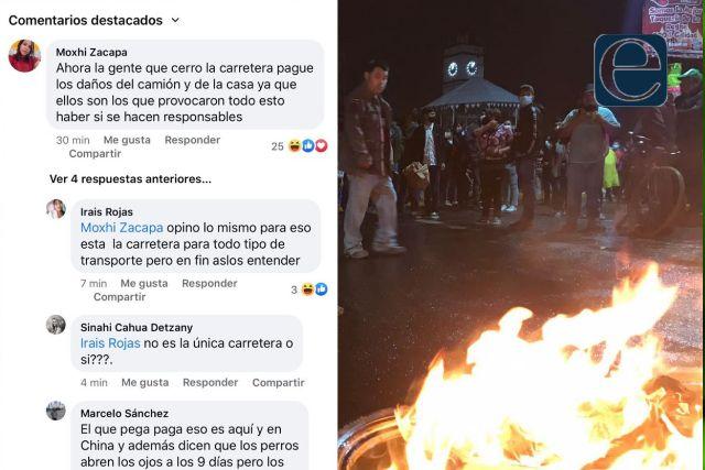 Ciudadanos exigen la reapertura de la carretera Puebla – Tlaxcala