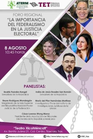 Tlaxcala, sede para analizar importancia del federalismo en la justicia electoral