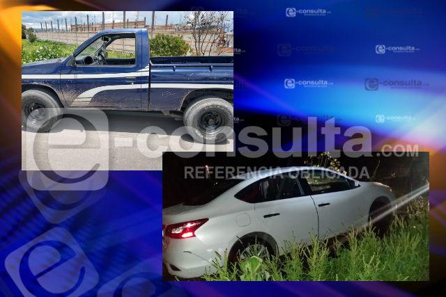Dirección de Seguridad Pública de Tepetitla recupera  dos vehículos con reporte de robo