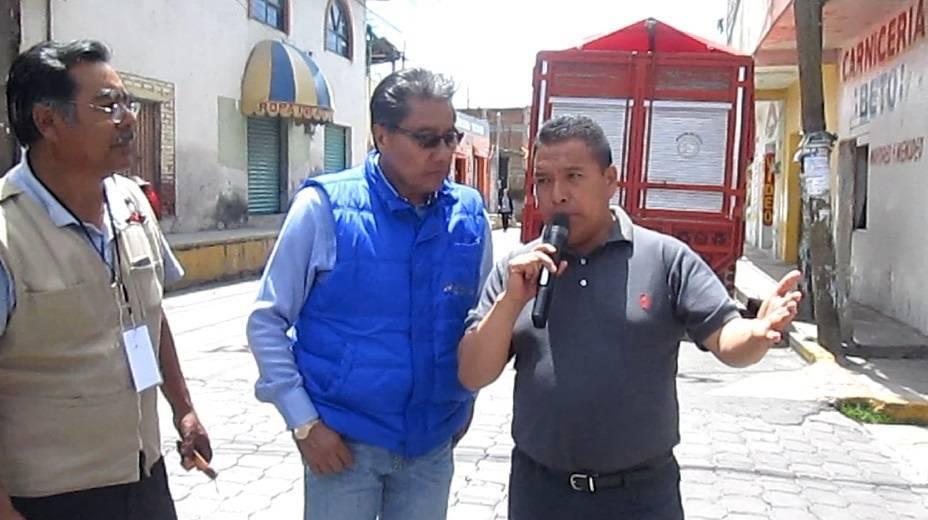 Atiende alcalde Mendoza a periodistas de Tlaxcala