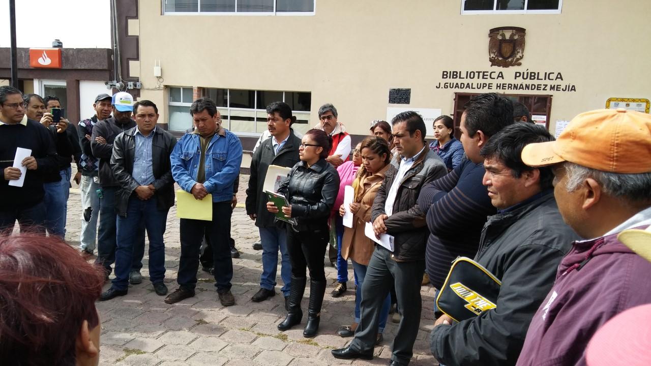 Pirrica manifestación en Tetla de la Solidaridad