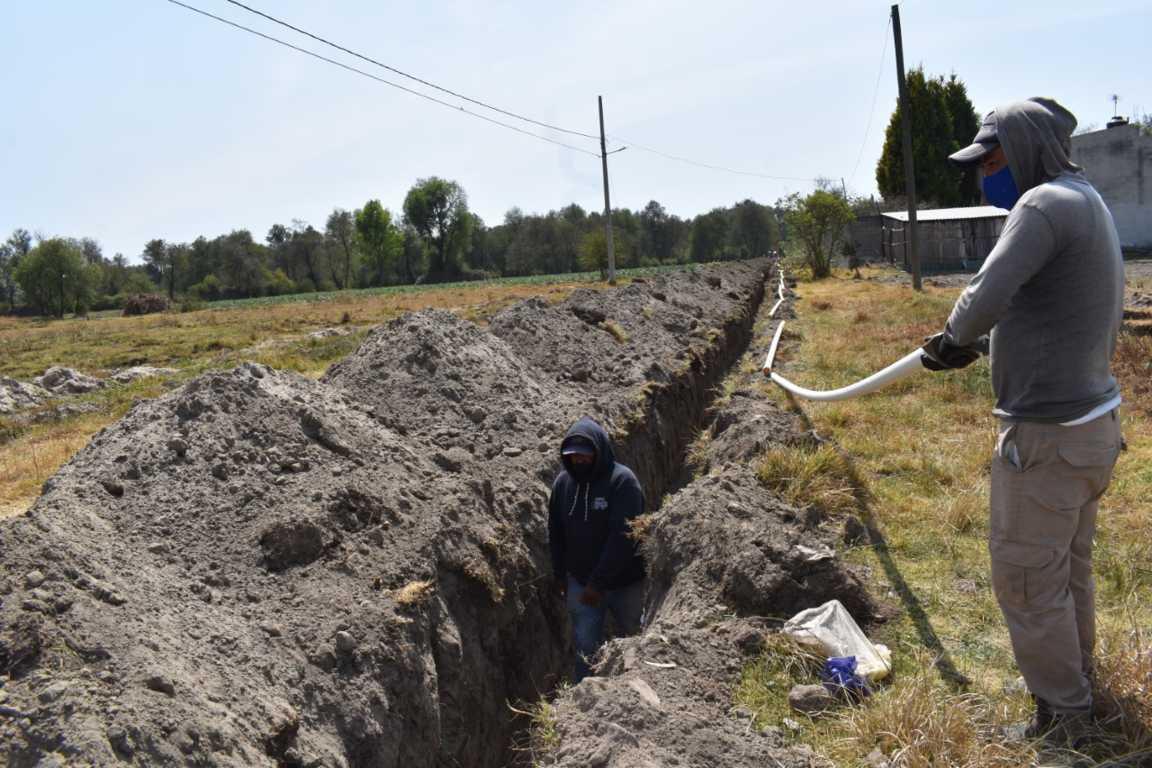 Realiza Capaz la ampliación de red de Agua potable en la cuarta de Zacatelco