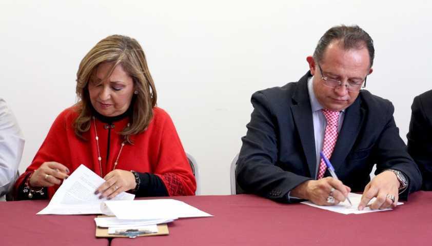 Firman convenio de colaboración Delegación de Bienestar y CEDH