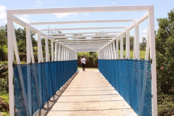 Implementaciones de seguridad en la zona de puente blanco, Tetla de la Solidaridad