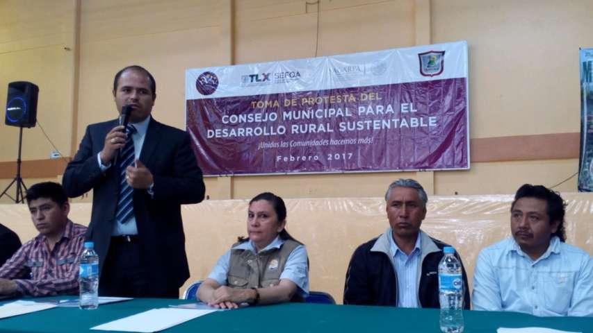 Instalan en Santa Cruz Tlaxcala Consejo de Desarrollo Rural Sustentable